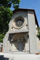 Cathédrale  dite église Notre-Dame-du-Bourg - Français:   façade de la Cathédrale Notre Dame du Bourg à Digne-les-Bains. Alpes de Haute-Provence