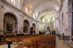 Eglise Saint-Nicolas-de-Myre - Français:  Nef de l'église Saint-Nicolas-de-Myre de Jausiers (France).