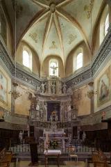 Eglise Saint-Nicolas-de-Myre - Français:  Chœur de l'église Saint-Nicolas-de-Myre de Jausiers (France).