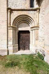 Eglise - Français:   Portail sud de l\'église Saint-Pierre-et-Saint-Paul de Saint-Paul-sur-Ubaye (France).