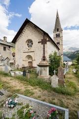 Eglise - Français:   Église Saint-Pierre-et-Saint-Paul de Saint-Paul-sur-Ubaye (France).