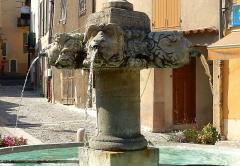 Fontaine publique en pierre dite Grande Fontaine -  Grande Fontaine de Valensole