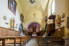 Eglise Saint-Laurent - Français:  Nef de l'église Saint-Laurent d'Arvieux (France).