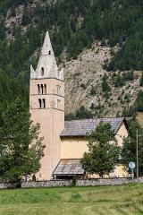 Eglise Saint-Laurent - Français:  Église Saint-Laurent d'Arvieux (France).