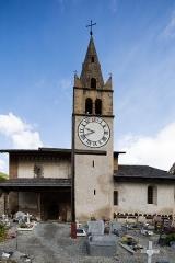 Eglise Saint-Michel - Français:  Tour de l'église Saint-Michel de Cervières (France).