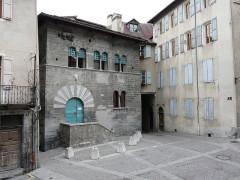 Maison des Chanonges ou du Chapître, anciennement collège des Chanoines de la cathédrale - Français:   Maison des Chanonges. Embrun