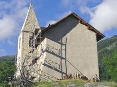 Chapelle Saint-Romain - Français:   Puy-Saint-Vincent - Chapelle Saint-Romain en cours de restauration