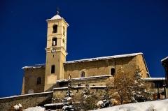 Eglise paroissiale Saint-Véran - Français:   L\'église de Saint-Véran, connue pour sa légende sur son dragon.