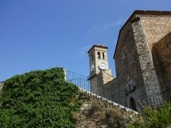 Tour du Suquet, chapelle Sainte-Anne et église Notre-Dame-de-l'Espérance - Français:   Église Notre-Dame-de-l\'Espérance. Le Suquet, Cannes, Alpes-Maritimes, France.