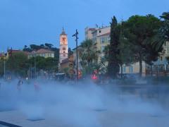 Cathédrale Sainte-Reparate - Deutsch: Nizza, Wasserdampf vor der Kathedrale Sainte-Réparate