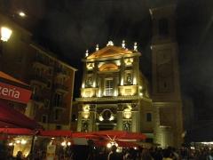 Cathédrale Sainte-Reparate - Français:   La Cathédrale St Réparate à Nice une nuit d\'été