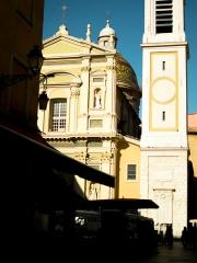 Cathédrale Sainte-Reparate - Français:   Vue générale depuis la rue Rossetti