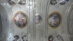 Eglise Saint-Jacques-le-Majeur dite du Gésu - Français:   Rue Droite dans le Vieux-Nice (Alpes-Maritimes), église St Jacques-le-Majeur, plafond, 16-9.