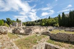 Thermes romains de Cimiez, dans le domaine de la villa Garin de Cacconata - Français:  Les thermes romains de Cimiez à Nice (France).