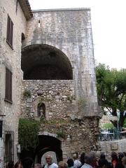 Porte de la ville -  The Square of the Great Fountain in Saint-Paul de Vence, Alpes-Maritimes department, France.