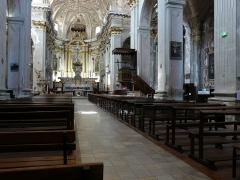 Eglise Saint-Michel - Français:   Intérieur de la Cocathédrale Saint-Michel de Sospel