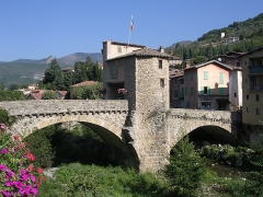 Vieux pont et tour qui le surmonte - This building is indexed in the base Mérimée, a database of architectural heritage maintained by the French Ministry of Culture,under the reference PA00080876 .