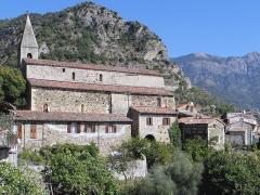 Maison - Français:   La Tour - Église Saint-Martin et maison Olivari dite maison des Templiers