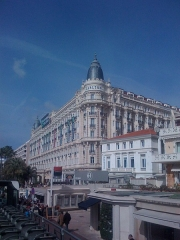 Hôtel Carlton - English: A front picture of the Intercontinental Carlton hotel of Cannes, France.