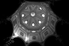 Cathédrale Saint-Sauveur - Français:   Dome du baptistère de la cathédrale Saint-Sauveur d\'Aix en Provence en noir et blanc