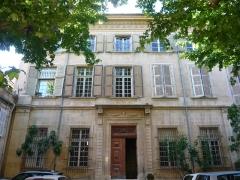 Hôtel Bonnet de la Beaume - Façade de l'hôtel Bonnet de la Baume, vue de la cour intérieure