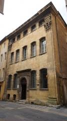 Hôtel d'Estienne de Saint-Jean, actuellement Musée du Vieil Aix - Français:   Façade complète de l\'hôtel d\'Estienne-de-Saint-Jean, à Aix-en-Provence