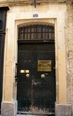 Hôtel - Français:   Hôtel, 6 rue Clémenceau, Aix-en-Provence, France (anciennement n°4) (inscrit, 1949).