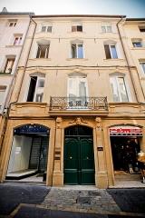 Maison - Français:   Une photographie de cette maison, prise par Marcel Bovis en février 1945, est répertoriée sous l\'identifiant Mérimée PA00081075, qui la situe par erreur au 3-5 rue Lisse des Cordeliers. Cette photo de la base Mérimée représente en fait le 31 de la rue des Cordeliers.