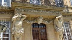 Pavillon de Vendôme (ou de la Molle) - English: Pavillon Vendôme - center of the southern facade