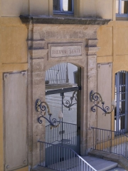 Thermes romains (vestiges) - English: Aix en Provence  - Thermae Sextii - entrance