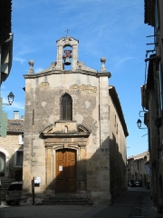 Chapelle des Pénitents Blancs, dite Notre-Dame-de-Pitié - English: Front side of Chapelle des pénitents blancs - Alleins - Bouches-du-Rhône - France