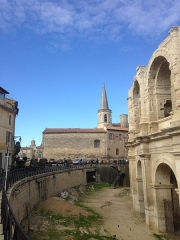 Amphithéatre ou Arènes - English: Arles, Arles Amphitheatre.