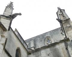 Ancien couvent des Dominicains ou Frères Prêcheurs - Arles (Bouches-du-Rhône_France), église des Dominicains ou Frères Prêcheurs, au fond de l'impasse de l'abbé Grégoire,  porche de l'entrée sud, gargouilles.