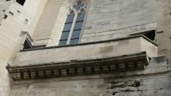 Ancien couvent des Dominicains ou Frères Prêcheurs - Arles (Bouches-du-Rhône_France), église des Dominicains ou Frères Prêcheurs, balcon sud sur la façade ouest permettant d'accéder à la tribune intérieure aujourd'hui abolie.