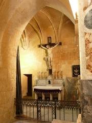 Eglise de la Major - Arles (Bouches-du-Rhône, France), intérieur de l'église Notre-Dame-la-Major, perpendiculaire aux autres chapelles et dans l'alignement de la travée de choeur, la chapelle du Purgatoire.