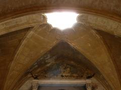 Eglise de la Major - Arles (Bouches-du-Rhône, France), intérieur de l'église Notre-Dame-la-Major, chapelle du Sacré-Coeur, élégante intégration dans la voûte d'un puits de lumière.