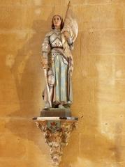 Eglise de la Major - Arles (Bouches-du-Rhône, France), intérieur de l'église Notre-Dame-la-Major, chapelle St Joseph, statue polychrome de Jeanne d'Arc.
