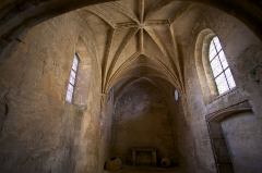 Nécropole des Alyscamps - Détail de l'église Saint-Honorat des Alyscamps à Arles.