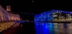 Fort Saint-Jean -  Fort Saint Jean et MuCEM, de nuit