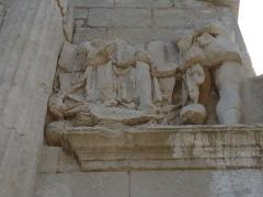 Arc de triomphe - Français:   Détail d\'une fresque de l\'arc de triomphe de Glanum