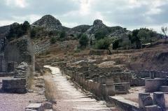 Fouilles de Glanum -   Roman road from Glanum to the Vía Domitia.