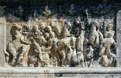 Mausolée dit Tombeau des Jules - English:  Battle scene, bas-relief of the   Jules'Tomb