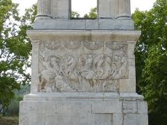 Mausolée dit Tombeau des Jules - Français:   Détails d\'une fresque du mausolée de Glanum