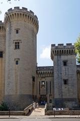 Château du Roi René - Deutsch: Château de Tarascon, Ansicht von Westen auf den Eingang