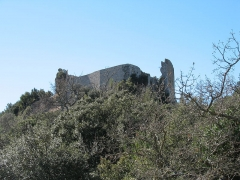 Château (ruines) - English: Forcalqueiret LeCastellas West view (detail)