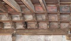 Cathédrale Saint-Léonce, baptistère et cloître - Français:   Peintures du plafond du cloître de la cathédrale Saint Léonce (XIV ème siècle). (Fréjus, Var, France)