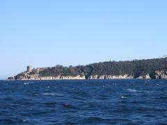 Fort de Port Man anciennement appelé batterie de Port Man -  Fort de Port-Man (île de Port-Cros, Hyères, Var, France).