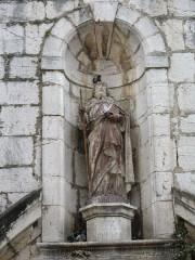 Eglise collégiale Saint-Martin - English: Collegiale St-Martin (front view detail) Lorgues