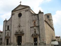 Eglise collégiale Saint-Martin - English: Collegiale St-Martin (front view) Lorgues