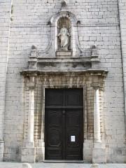 Eglise collégiale Saint-Martin - English: Collegiale St-Martin (entrance view) Lorgues